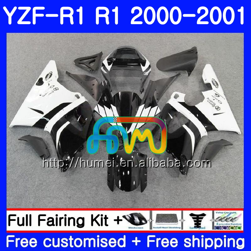 Bodywork For YAMAHA YZF 1000 YZF-<strong>R1</strong> 2000 <strong>2001</strong> white black Body 98HM43 YZF1000 YZF R 1 YZFR1 00 01 YZF-1000 YZF <strong>R1</strong> 00 01 Fairing