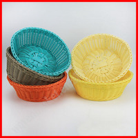 Wholesale handmade rattan woven food basket