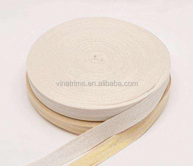 high quality cotton herringbone twill tape label tape