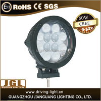 factory direct offer 7 inch cob 45w 60w led work light 4d spot wide beam cree led work light with CE ROHS IP67