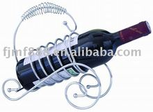 Powder-Coated Silver Metal Wire Wine Rack 23*9.5*22cm