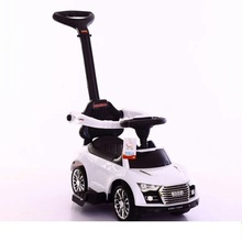 China Factory Wholesale Kids Push Car Plastic Ride On Baby Toy Car Foot to Floor Baby Swing Car wih Handle
