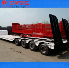 150t heavy duty 4 lines 8 axle low bed semi trailer for special machine transport