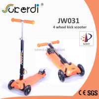 Front wheel 120mm rear wheel 80mm 4.5kg foldable kids kick manual scooter