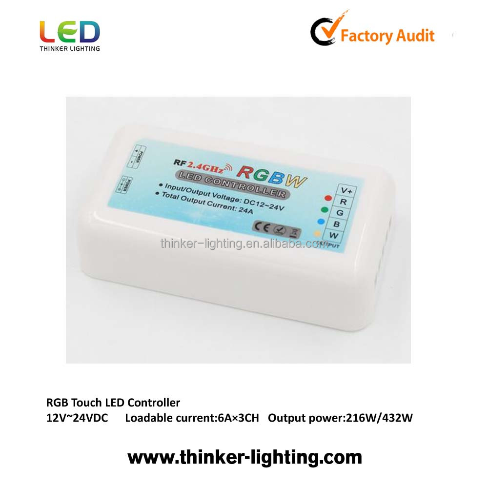 led touch controller 2.4G RF RGB controller wholesale