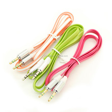 3.5mm Metal Head Male Stereo Audio Aux Cable for Car PC iPod MP3 Phone Speaker