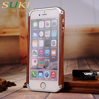 wholesale natural wooden PC+wooden cell case can custom in china