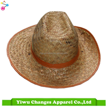 Wholesale Custom Straw Hat With Printed Logo For Promotion