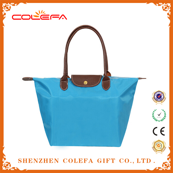 promotional nylon korean designer foldable tote bag