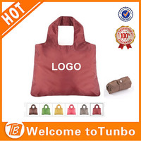 cheap eco 190T polyeter fold shopping bag with button