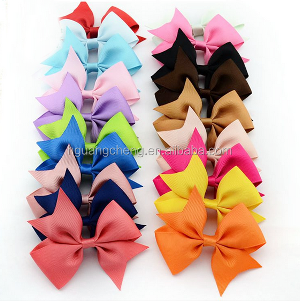 fancy grosgrain ribbons hair bows with clips