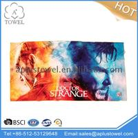 100% Cotton Reactive Customized Made Painted Beach Towels