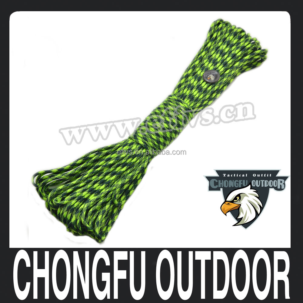 Wholesale Paracord 550 Paracord Parachute Cord Lanyard Rope Mil Spec Type III 7Strand 100FT Climbing Camping survival equipment