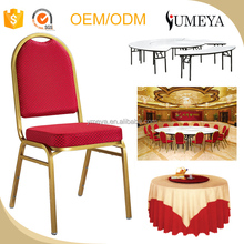 Hotel furniture stainless steel banquet hall furniture dining table and chair for sale