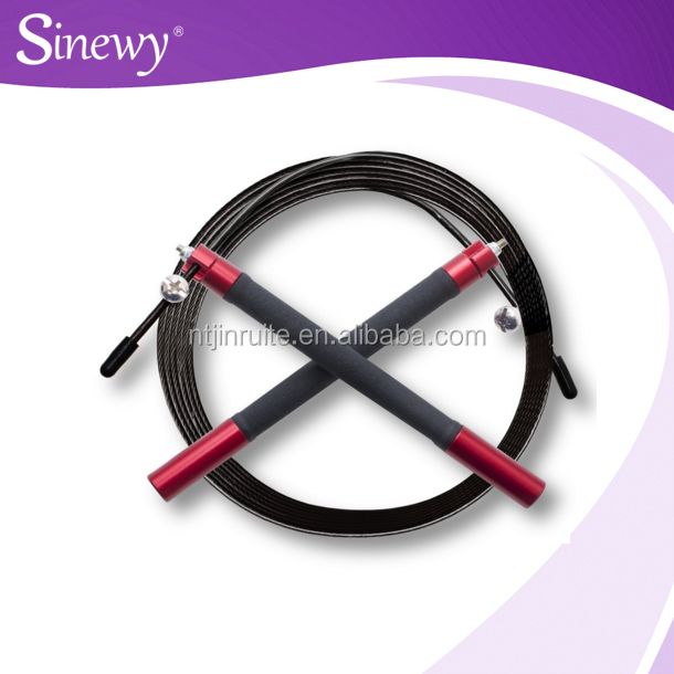 Premium Adjustable 11 Foot Cable Jumprope with Ball Bearing Handles