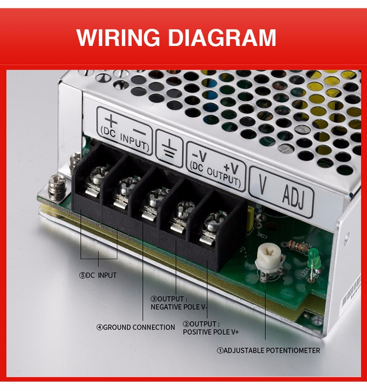 SD-50C-12 WEHO high efficiency dc to dc converter 36-72vdc input 50w 12v power supply