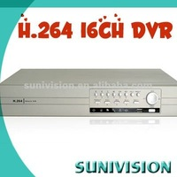 16ch usb dvr box with 8ch alarm input and cms software