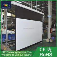 XYSCREENS 16 9 format 150 Inch Tab-tensioned Electric Projection Screen for office equipment