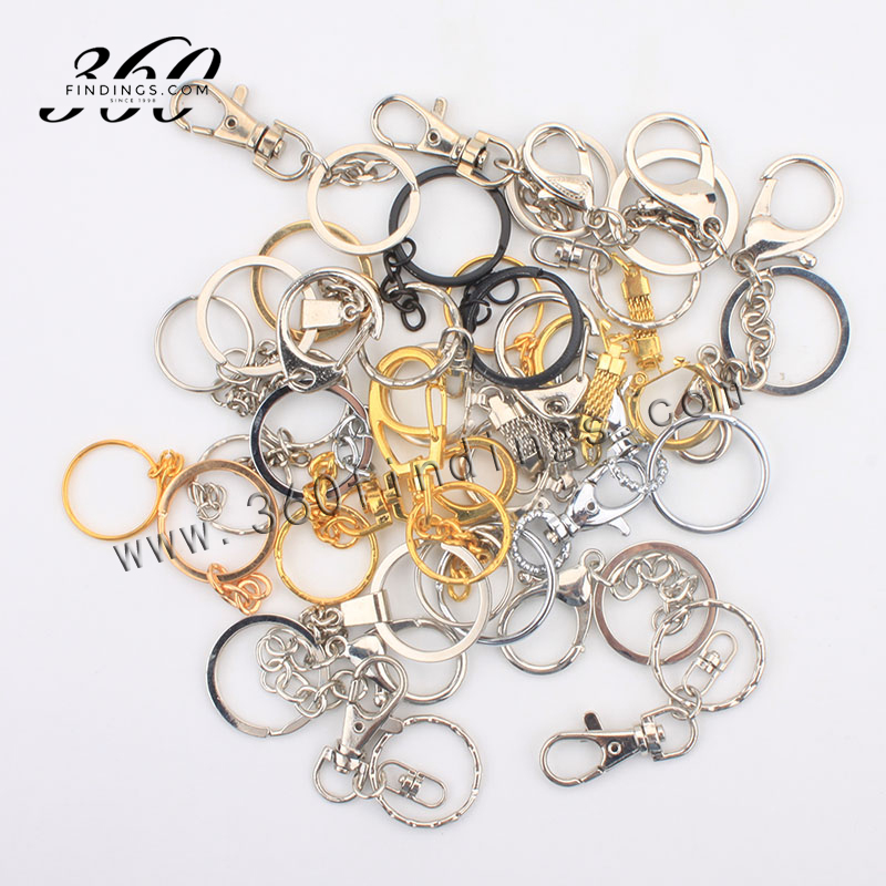Steel Metal Rings Lobster Clasp Keychain Ring Swivel Trigger Clips Key Chain Snap Hook