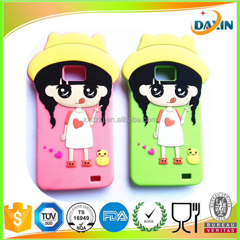 Popular girls silicone rubber cover / mobile phone cases