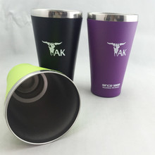 18/8 SS powder coated 15 ounce vacuum insulated coffee tumbler