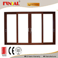 Thermal insulation aluminum sliding door with double glazing glass from shenzhen