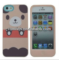 for iphone 5 cute 3D cartoon animals soft silicone case bear pig rabbit cat panda cover