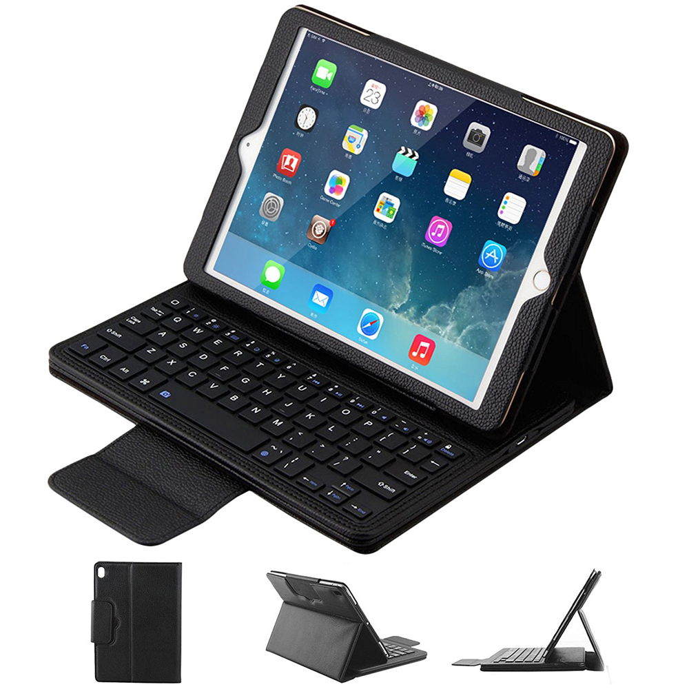 For iPad Pro 10.5 Keyboard Case, PU Leather Flip Case Wireless Keyboard Smart Cover for iPad Pro 10.5 Tablet