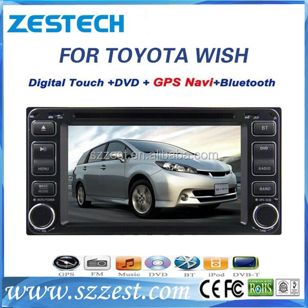 ZESTECH high quality 2 din car audio gps navigation for Toyota Wish 2003-2011 car radio with DVD, 3G, USB, SD, SWC, rear camera