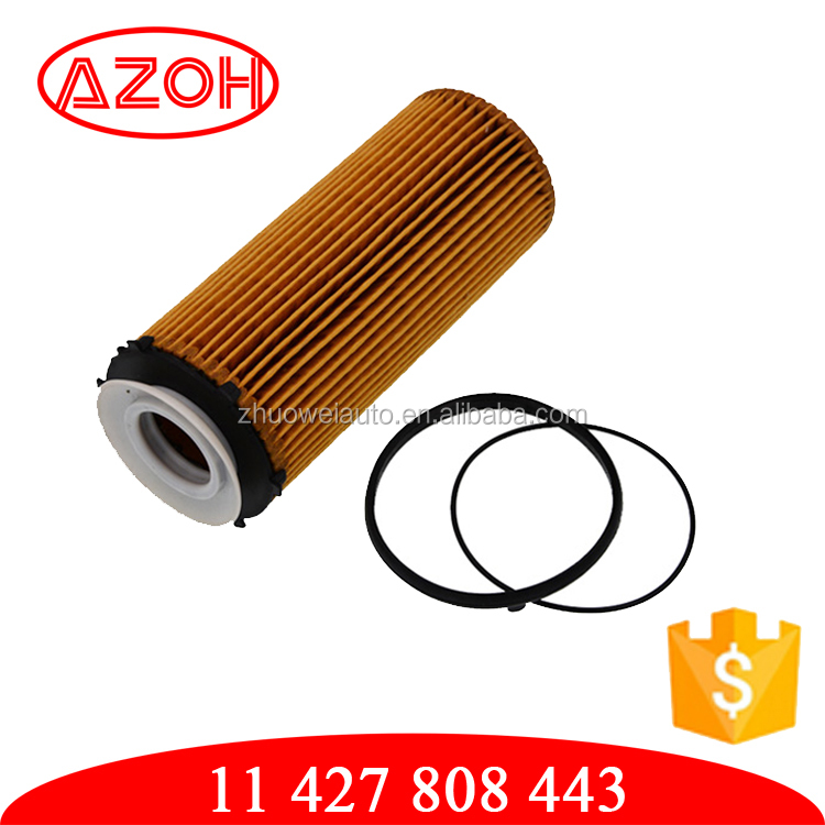 Auto engine lubrication system paper oil filter assy for BMW OEM.11 427 808 443,11427808443,HU72013