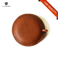 2016 Hot New Round Customized Brand Leather Tape Measure Case