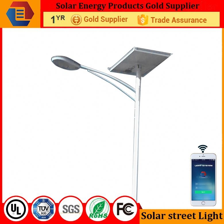 IP67 5m pole with 100w solar panel for 30W solar street light price /LYBRSST5MB644