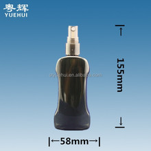 100ml Black Plastic Mist Spray Pump Bottle / PET Refillable Pump Spray Container