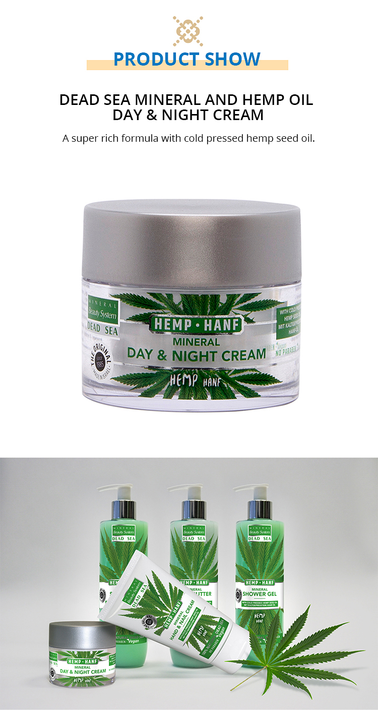Dead Sea Mineral and Hemp Oil Day and Night Cream