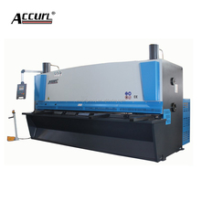 ACCURL CNC 6x2500mm hydraulic guillotine metal cutting machine/steel plate shear