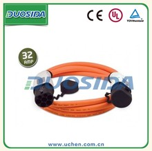 Type 2 iec 62196 electric vehicle charging plugs orange cables 32a 3 phase