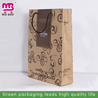 Shopping industrial use recycled material custom print low cost paper bag with handle