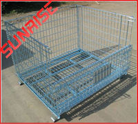 foldable galvanized metal container insulated