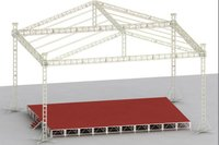 aluminum 4 towers truss systems / structure with roof for outdoor event