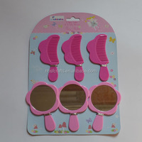 Popular Portable Plastic Hair Brush And Mirror set for children, Professional Comb Mirror Sets, Wholesale Pocket Mirror