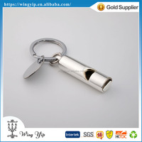 Tailor made fancy Whistle Blank Metal Custom Key Ring