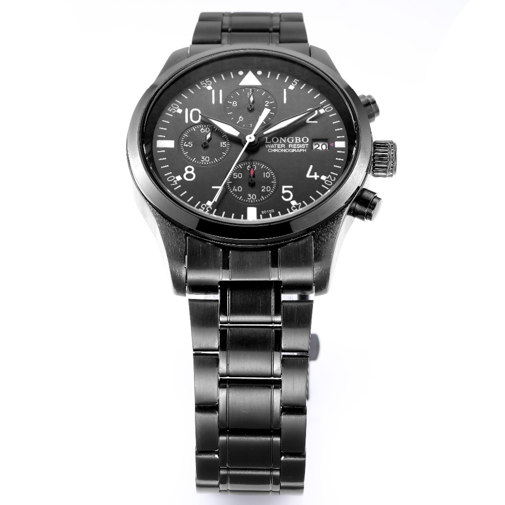 LongBo Watches Mid-east watches relojes geneva Cheap Price stainless steel band watches