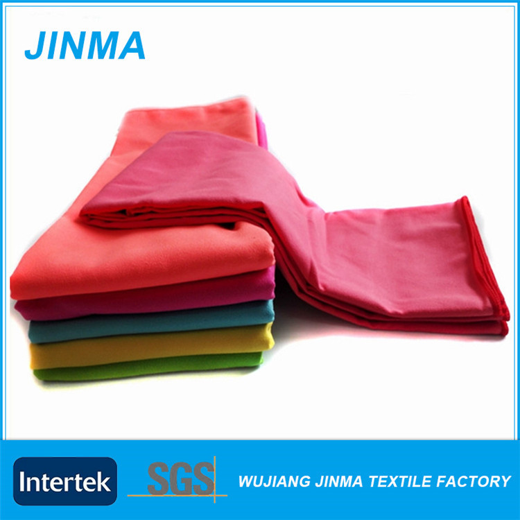 Sell well new type brand name printed microfiber suede towels