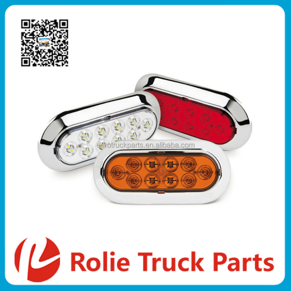 "6"" Oval S/T/T with 10 LEDs Truck Trailer LED Tail Light Side Lamp Led Brake Light LED Marker Light"