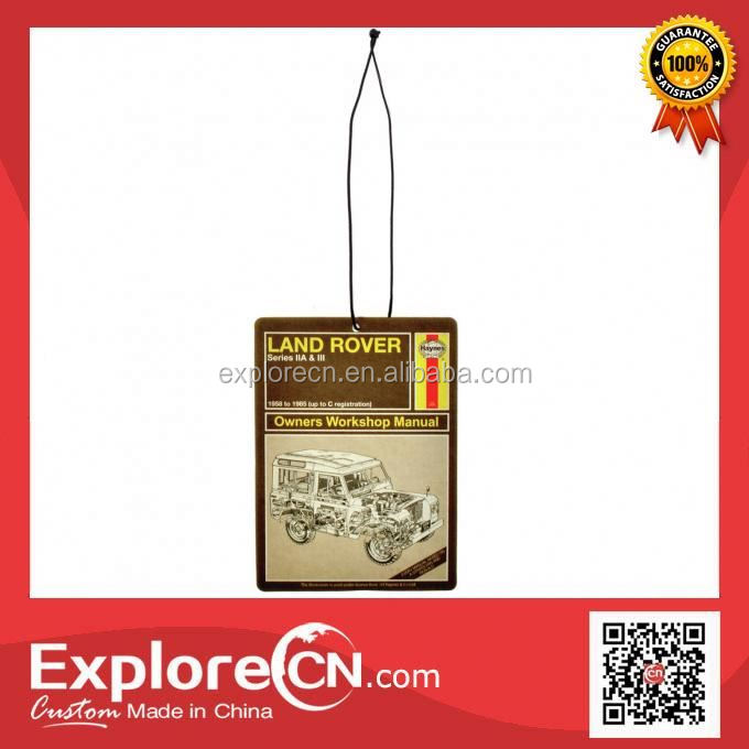 Wholesale make hanging paper car air freshener for gifts