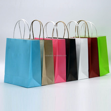Custom twist handle kraft paper bags by full-automatic machine