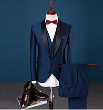 Tailor-made Elegant Royal Blue Men Wedding Suit Pant Coat Men Suit Design