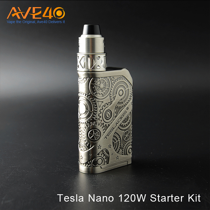 2017 Newest Tesla Steampunk Nano 120W Starter Kit vape box mod in stock
