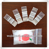LDPE clear apple mini zipper bag