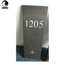 SHIBELL hotel room door plate with House Number and dnd sign